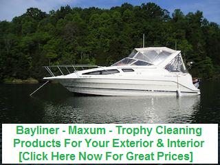 Bayliner Maxum Trophy Cleaning Products